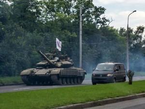 tanc in Donetk