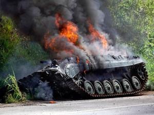 tanc in flacari